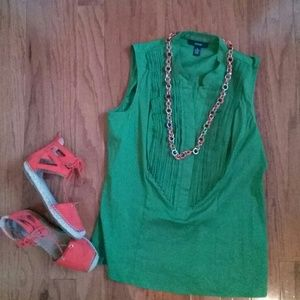 Alfani Top Size 12 Green Sleeveless Blouse